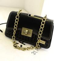 2014 street women's handbag knitted lock chain bag shoulder bag q047  women messenger bag