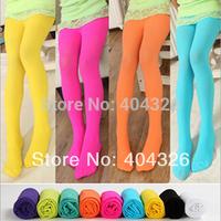 Girls/Kids Pantyhose Legging Hosiery Opaque Ballet Dance Candy Fluorescence Colourful 4.99 hot