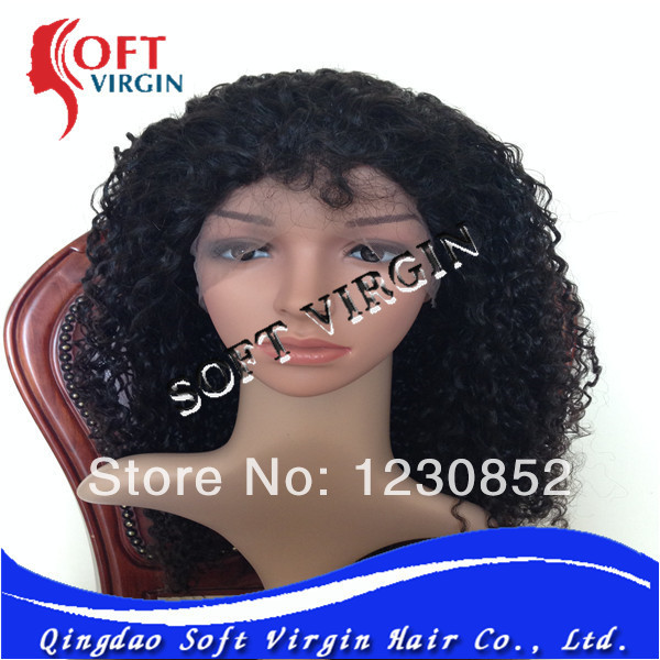 Curly as pic 8-30inch in stock Indian full lace wig(China (Mainland))