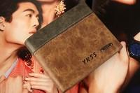 Free Shipping2015Wholesale Brand Designer Leather Man wallet Men's casual Wallets Male cowhide Wallet Men Money Bag Purse