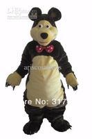 2014 NEW ARRIVE hot sale masha bear  Fancy Dress Mascot Costume Adult Character  Cosplay mascot costume free shipping