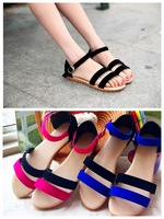2014 spring and summer gladiator flat slippers sandals female summer sandals shoes open toe slippers sandals  female