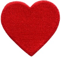 Red heart love valentine's day 70s retro party fun applique iron-on patch