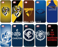 Transparent skin design AFL teams case hard back cover for iphone 5 5th 5S 5G10PCS/lot+Free shipping