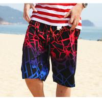 Newly Design Quick Drying Skateboarding Shorts Men Loose Sports Swimming Wear Fashionable Boy Casual Plus-size Beach Capris