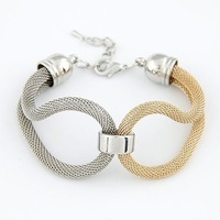 2014 Hot Sale New Fashion Women Men Jewelry Summer Alloy Chain Knitted Chunky Bracelets & Bangles!#2427