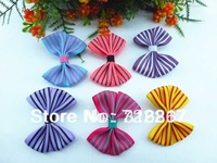 2014  fashion 50 u pick lovly big Headwear print striped Bow Hair Clips Aligator Clip hair bows clips lot