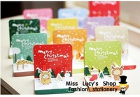 Free ship 1lot=5sets/Korean stationery kawai cute Bookzzicard animal three-dimensional Christmas CARDS