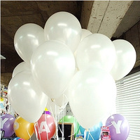 Free Shipping 200pc/Lot 10' Inch1.5g  White Latex Balloons Holiday Supplies Party Decoration Helium Infalbe  Balloon