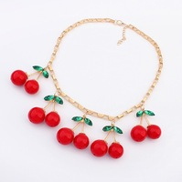 Wholesale 2014 Fashion lovely cherry Necklaces & Pendants Fashion Jewelry For Woman!2179