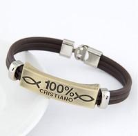 Fashion Metal Punk Concise Concise Skeleton Cross Love 100% Plastic Bracelet For Women!#1655