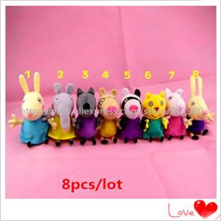 Hot! Peppa Pig George stuffed full sister kids, cartoon toys big rally. Factory direct wholesale. Free Shipping(China (Mainland))