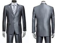 Men's Stylsh Business Suit Handsome Suit Charming Comfort Dress Suit Silver Size S-4XL New 2014