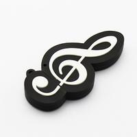 Retail novelty fancy Musical Note shaped USB Flash Drive pen drive usb drive flash memory stick mini gift Free shipping