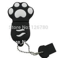 Hotsale Plastic USB 3.0  Flash Drive Footprint Shape 2 4 8 16 32 64g Pen Drive Sticker  Memory Stick Driver Free Shipping