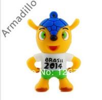 2014 Brazil World Cup Catoon Plastic USB 3.0  Flash Drive Sticker  2 4 8 16 32 64g U Stick  Memory Stick Driver Free Shipping