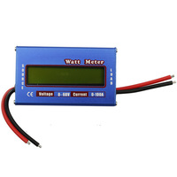 Free shipping Digital LCD 60V 100A Voltage power analyzer watt meter Amp-hour tester checker RC Battery analyzer