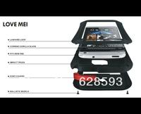 Free shipping Aluminum Metal WaterProof Dirtproof Shockproof Case Gorilla For HTC One M7