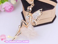 The new creative of plush angel hair ball rhinestone car key ring bag keychain gift