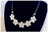 2014 New Fashion Bib Choker Necklace Crystal Gem Flower Drop For Women Statement Necklace