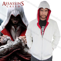New Fashion! Assassins Creed Desmond Miles Cosplay Costume Hoodie Coat Jacket Sweatshirt Free Shipping