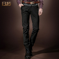 Royal men's clothing 2014 spring male black casual trousers male skinny pants fashion pants 14804