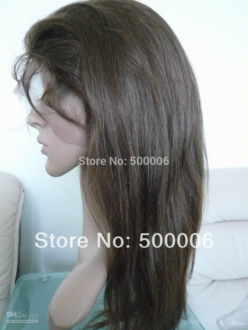 "6A grade virgin malaysian human hair lace wigs straight natural color 14""-26"" lace frontal wigs free shipping(China (Mainland))"