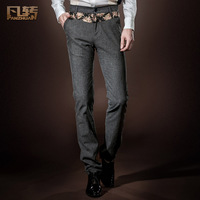 Royal men's clothing 2014 spring male slim trousers mid waist casual pants male trousers 14811