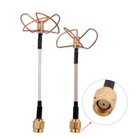 FPV 5.8G Clover 3 Blade Transmitting w/ 4 Blade Receiving Aerial Antenna (TX w/ RX) Straight/Bore Connector