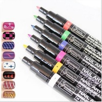 3 Pcs Nail Art Pen Pro Design Painting Pen UV Gel Nail Polish Tools Dot Drawing Manicures Products 9 Colors Free Shipping