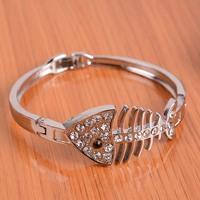 P1232 fish bone bracelet alloy  bracelet fashion lovers bracelet hand ring