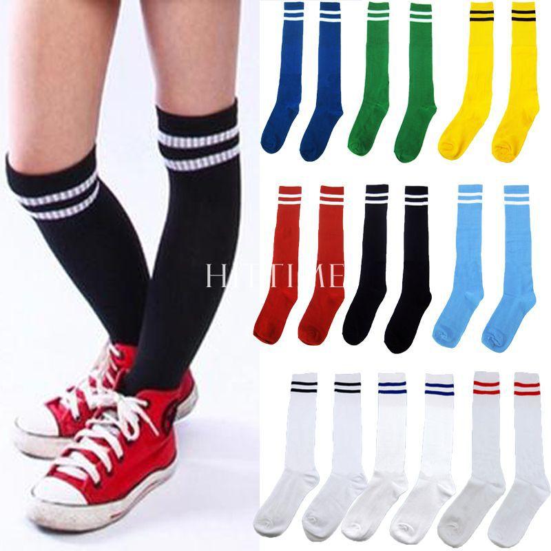 New Unisex Children Sport Football Soccer Above Knee Tube Socks Stocking 10Color #55146(China (Mainland))