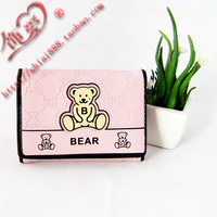 Cartoon wallet bear wallet child wallet women's wallet short design three fold wallet
