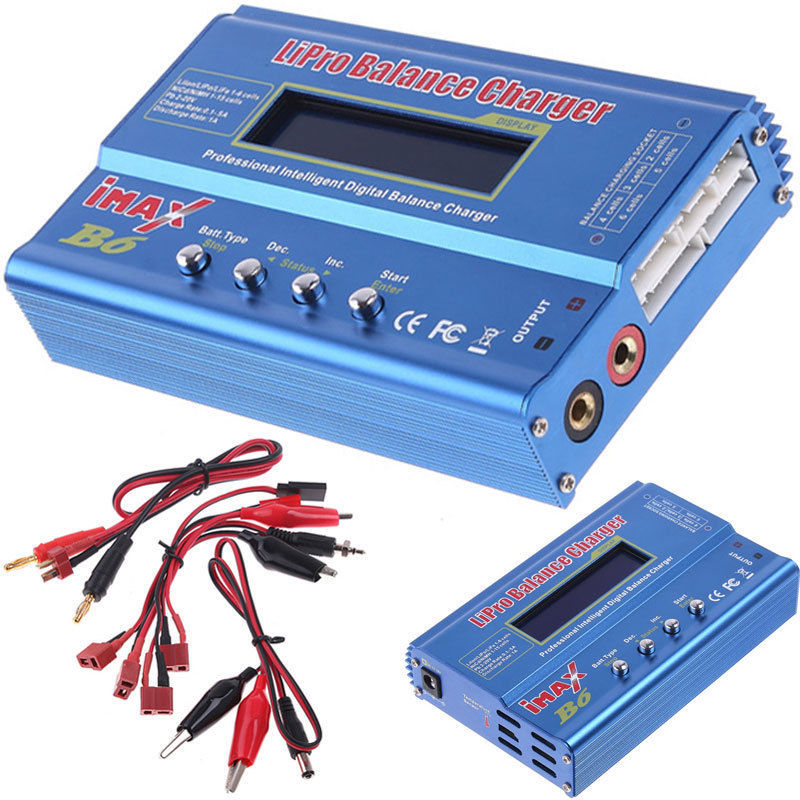 iMAX B6 Digital LCD RC AC Lipo Li-polymer Lipo NiMh Battery Balance Charger For RC model helicopter car truck boat New(Hong Kong)