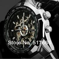NEW Steampunk Clock Mens Automatic Mechanical Men Wrist Watch Mechanical Wristwatch free ship