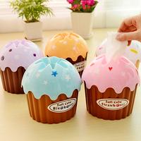 6121 Free shipping minimum order $10 (mix order) cute cake ice cream tissue box creative household goods 5 colors