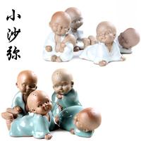 Cartoon tea pet ceramic crafts decoration buddha