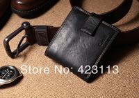 DESIGNER BRAND  NEW   MEN CREDIT CARD WALLET cowhide zipper wallet