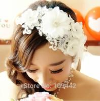 Bridal White Handmade Hair Flower Wedding Hair Accessories GHJ005