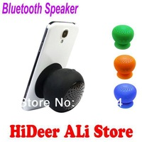 3 pcs/lot Multi-color Mini Bluetooth Speaker Hands Free Silicone Sucker Waterproof  Speaker Mushroom Shape for Phones Laptop
