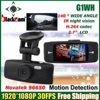 Novatak 96650 CKM-G1WH Car Camera DVR Full HD 1920*1080@30FPS With WDR + 140 Degree Angle Lens + G-Sensor Free Shipping