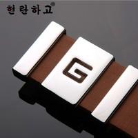 Luxury Belts men's classic bussiness belt leather belts fashion leather belt for men letter G head