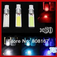 Wholesale-Free shipping Free shipping 5W COB High Power Led Car Super White COB LED light T10-COB-5W W5W SMD
