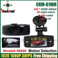 "Novatak 96650 2.7"" LCD 1080P CKM-G1WH Full HD Car DVR Recorder Camera G-sensor HDMI 140 Degree Angle WDR"