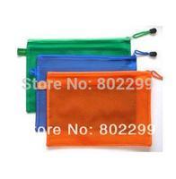 10PCS Filing Products A4 mesh zippered bag A4 mesh bag sandwich mesh bag color classification data Color envelope 335*240mm