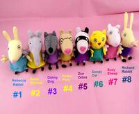 20CM 8pcs/set hot sale  Peppa George Pig friends family Plush Toy Set Peppa Pig Teddy Stuffed Animals Dolls baby toys pepa