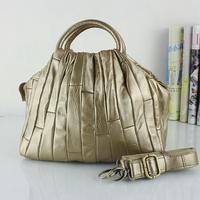 2014 fashion vintage patchwork cowhide  genuine leather handbag one shoulder cross-body women's bag tote bag three colors