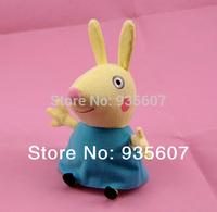 Rebecca Rabbit 20CM 8pcs/set hot sale  Peppa George Pig friends family Plush Toy Set Peppa Pig  Stuffed Animals Dolls baby toys
