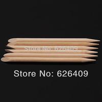 100Pcs Nail Art Orange Wood Stick Cuticle Pusher Remover Pedicure Manicure Tool#9066