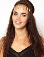 Min Order $10(Can Mix Item)Angel wings feathers fringed with metallic hair accessories.head chain
